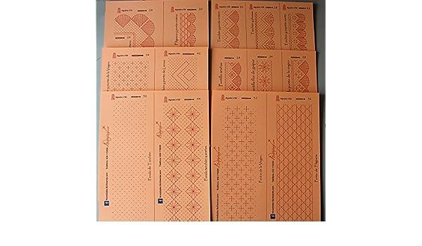 Conjunto de patrones para Aprendizaje de Encaje de Bolillos: Amazon.es: Hogar