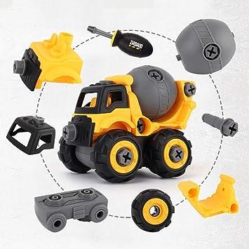 Nehmen Sie auseinander Auto Spielzeug Bagger mit