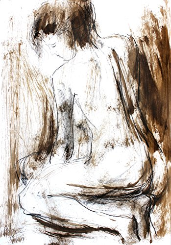 Original Nude sketch Modern wall art Artistic drawing Woman Figurative art by IvMarART