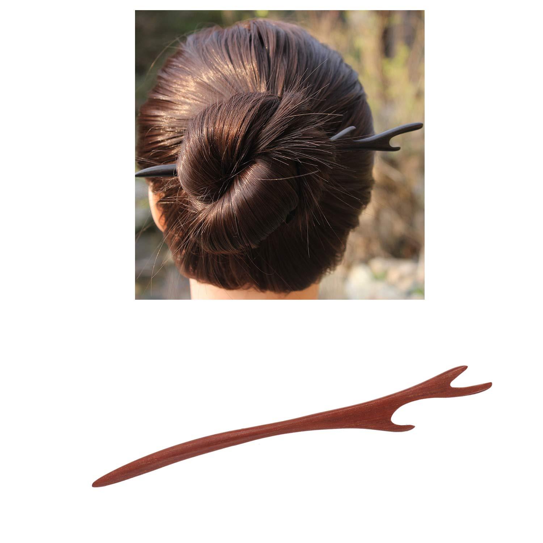 Vintage handmade horn hair fork stick up do chignon stick