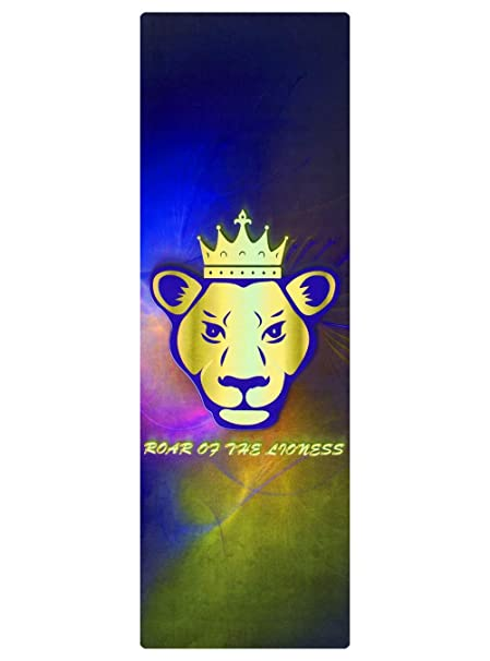 Amazon.com : Roar Of The Lion Lioness Galaxy Yoga Mat ...