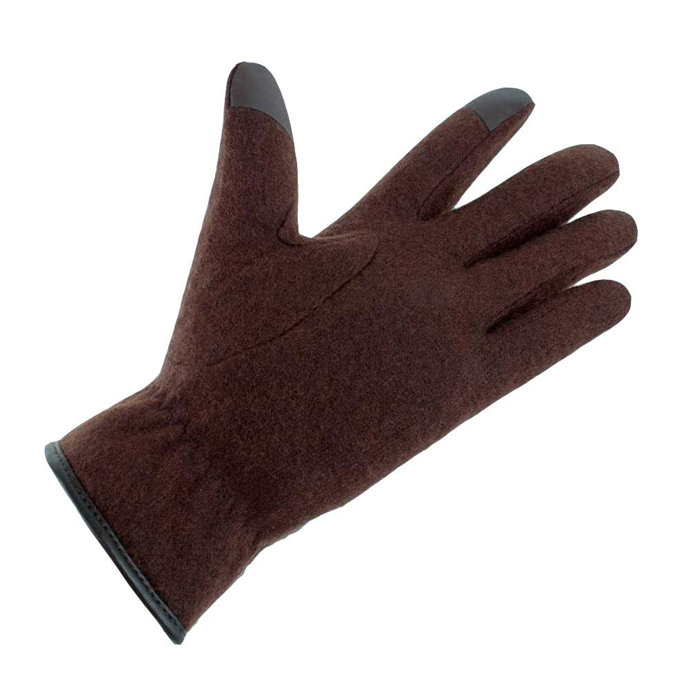 Dall Gloves Gloves Outdoor Windproof Touchscreen Leather Gloves Cycling Driving Color : Brown