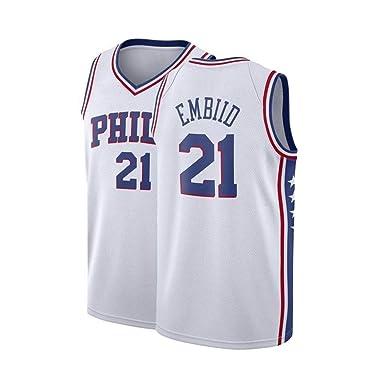 reputable site 198c0 01213 Amazon.com: Wayliin Mens Embiid Jersey Philadelphia ...