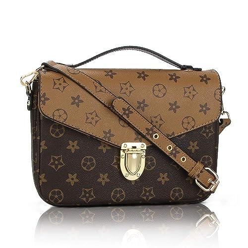 0c1bf0df192 Gerosse Women Shoulder Purse Retro Small Leather Crossbody Bag Waterproof  Mini Shoulder Handbags for Women