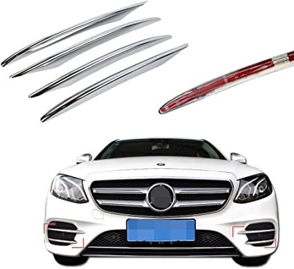 4pcs ABS cromo luz antiniebla delantera de coche Sed/án Sport AMG Refit