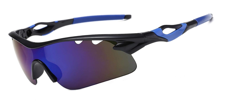 POSMA SGS009 偏光スポーツサングラス ユニセックス サングラス メンズ レディース ゴルフ 野球 サイクリング ランニング 釣り   B07PNH7SDK