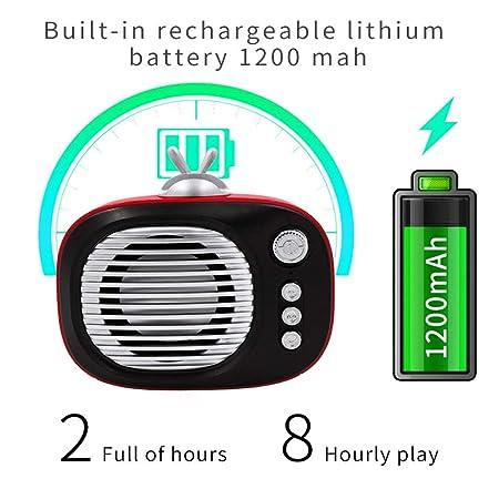Beisoug Bluetooth Altavoz portátil Mini Reproductor de Altavoz inalámbrico Música Sonido Colum
