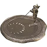 Whitehall Products Golfer Sundial, Oil Rub Bronze