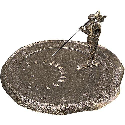 Whitehall Products Golfer Sundial, Oil Rub Bronze