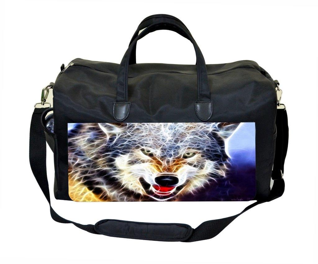 Jacks Outlet Fractal Wolf Gym Bag