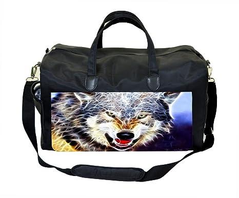 Amazon.com: Jacks Outlet Fractal Wolf Gym Bag: Sports & Outdoors
