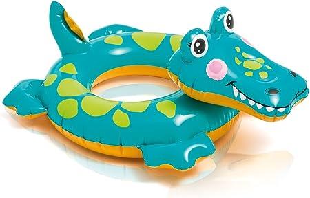 Baño Animal Hinchable flotador (para absoluten baño Diversión/cocodrilo/ cocodrilo/cocodrilo aprox. 72 X 66 cm diversión de baño para niños/de la ideal baño Pass para piscina, mar, playa o vacaciones: Amazon.es: Juguetes y juegos