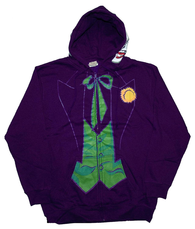 Amazon.com: Mens DC Comics The Joker Costume Hoodie S Purple: Clothing
