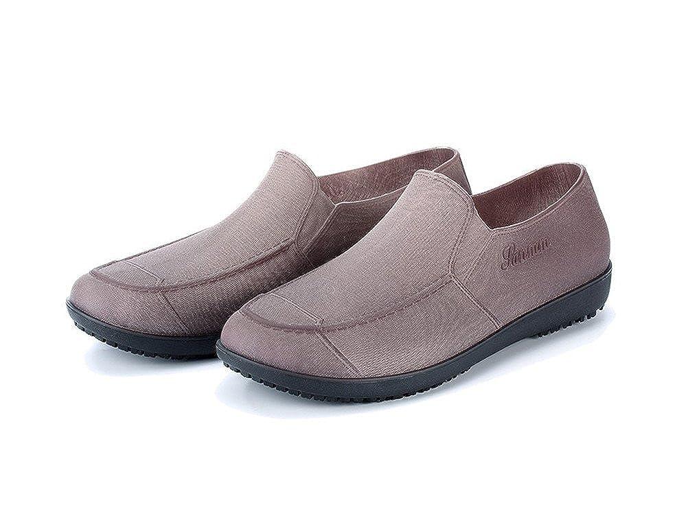 Flyrioc Mens Kitchen Shoes Chef Clogs Anti Slip Working Shoes Rain Boot Garden Shoes