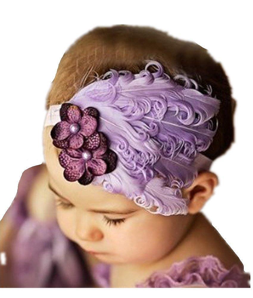 Bandeau cheveux bébé/enfant Plumes
