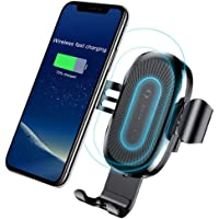 Qi Wireless Car Charger,Baseus Qi Fast Wireless Charger Gravity Car Mount Air Vent Phone Holder for Samsung Galaxy S8 S9…