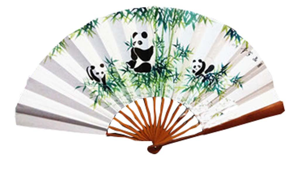 Panda Superstore Paper Fans Chinese Fans Folding Hand Fan Hand Held Fans