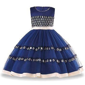 29e603710dc QSEFT Vestidos De Noche De Niña Elegantes Niñas Princesas Vestidos De  Fiesta Niñas Vestidos De Boda para Niños Vestido De Navidad 3-10 Años De  Edad: ...