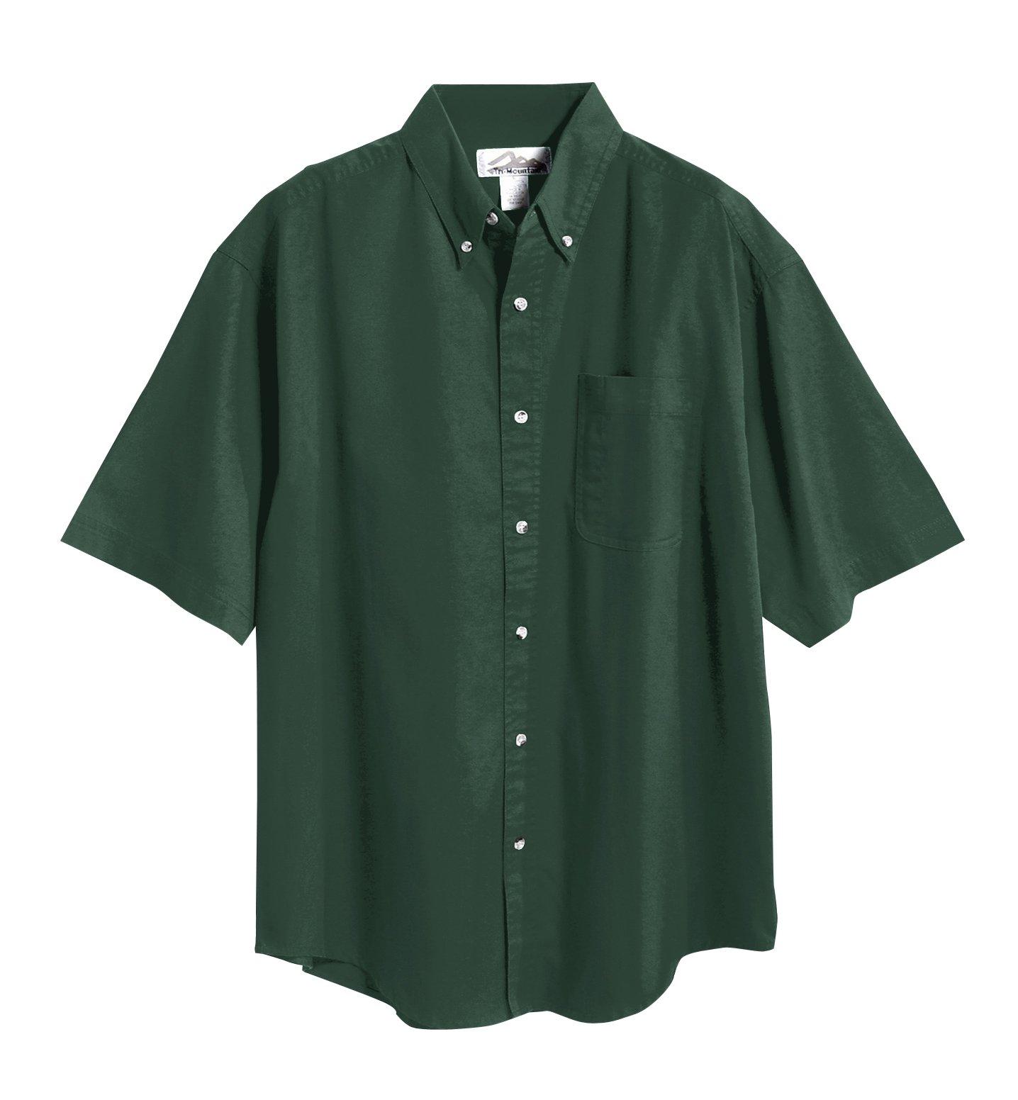 Tri-Mountain 768 Recruit Teflon Stain-Resistant Woven Shirt, Forest Green, 4XL