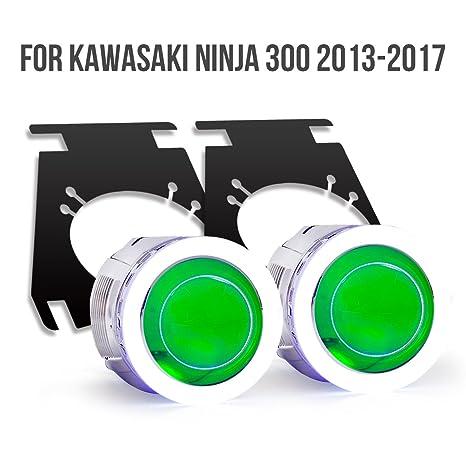KT Tailor-Made HID Projector Kit HP9 for Kawasaki Ninja 300 2013-2016 Green Demon Eye