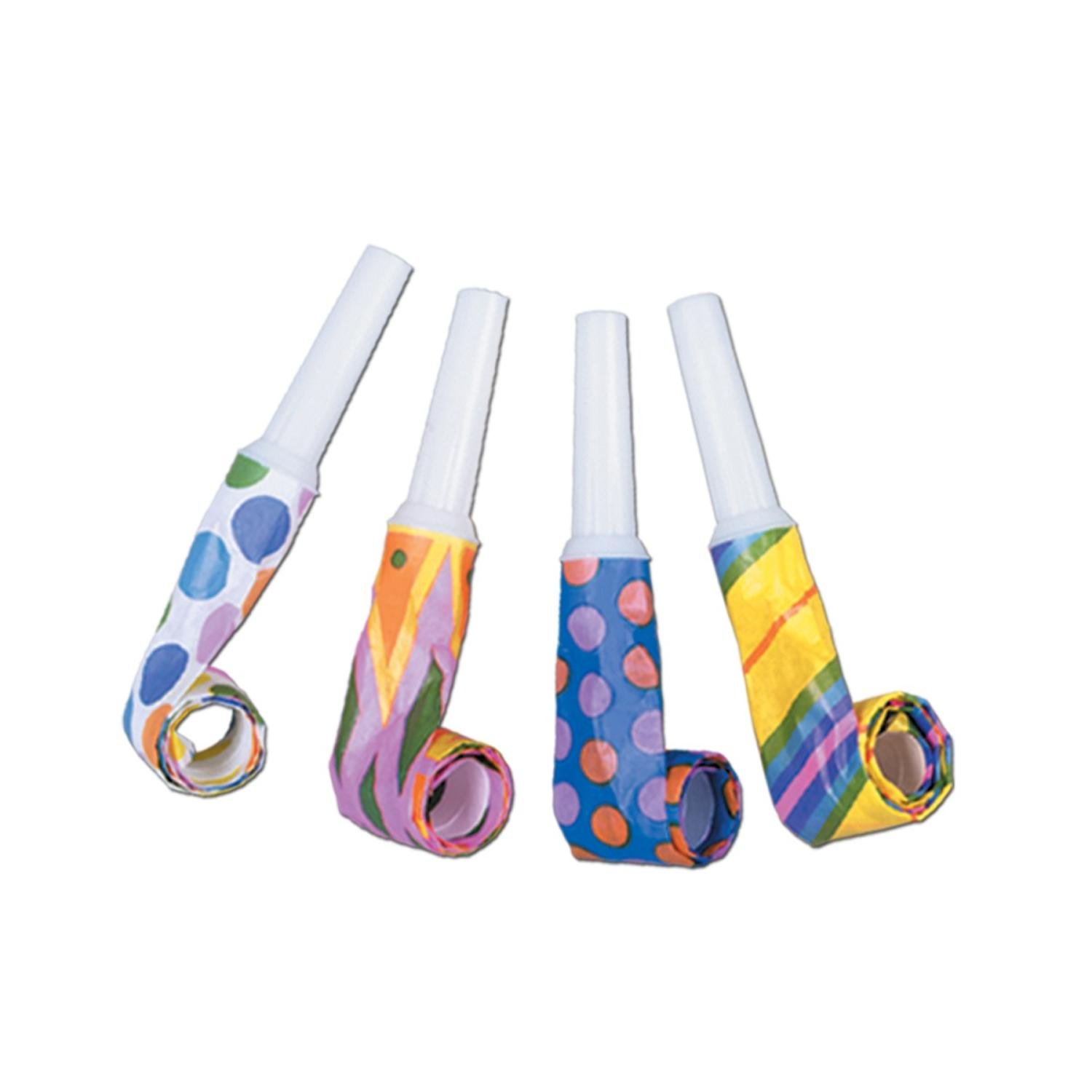 Club Pack of 192 Multi-Colored Noisemaker Blowout Party Accessories
