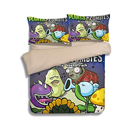 Amazon.com: FJMM Plants vs. Zombies Bedding Sets PVZ 3PC ...