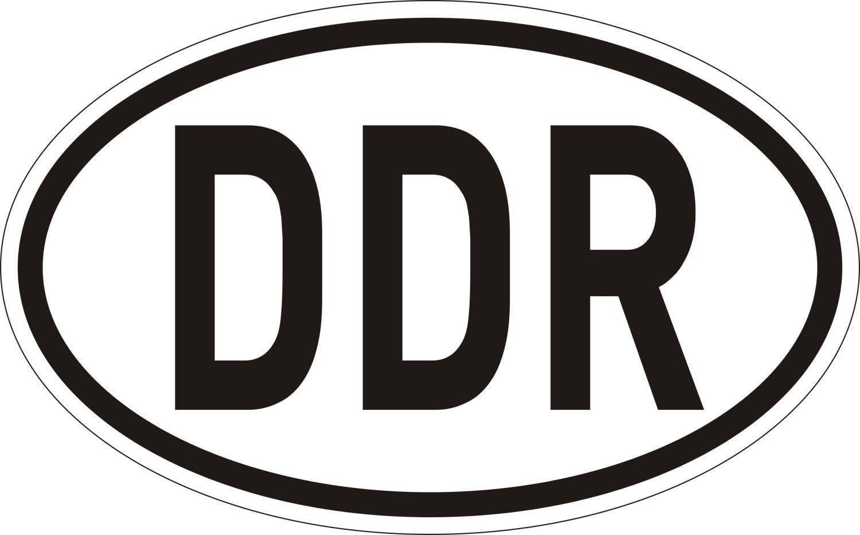 Sticker Länder Kennzeichen Ddr I 14 5 X 9 Cm I Auto Aufkleber Wetterfest I Artikel Utensilien Als Geschenk Idee I Kfz 031 Auto