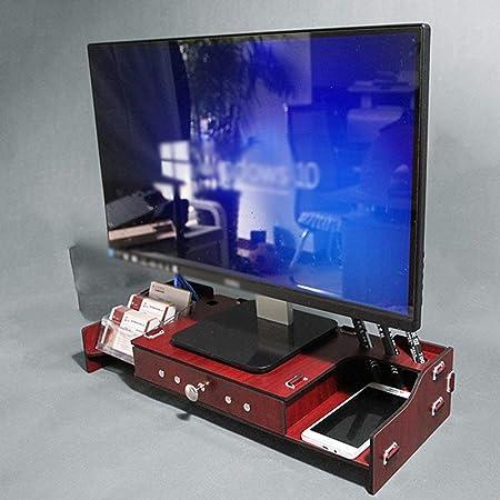 DFFS Pantalla Recibir Rack Monitor de computadora de Madera Soporte levantado para TV, Escritorio con Estante de Almacenamiento en el cajón (Color: 3): Amazon.es: Hogar