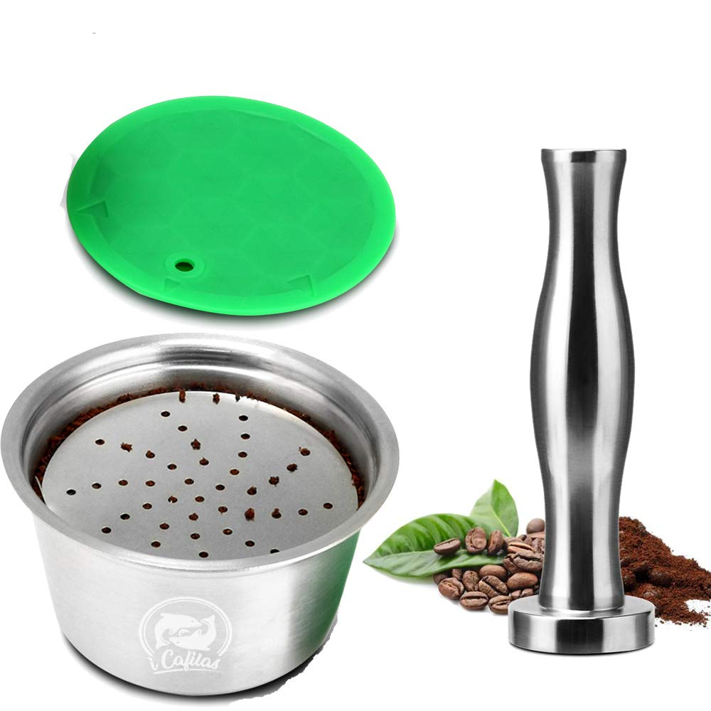 Konesky C/ápsula de Caf/é Reutilizable 1 Juego Acero inoxidable Recargable Tazas de Filtro de Caf/é Compatible para M/áquinas Dolce Gusto con Sabotaje de Caf/é