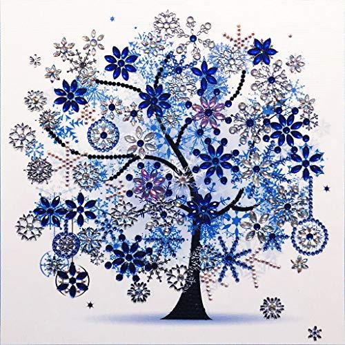 (Ladaidra Winter Flower Tree 5D Special Shaped Diamond Painting Embroidery Needlework Rhinestone Crystal Cross Crafts Stitch Kit DIY)