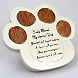 Dog Paw Sadly Missed Memorial Memento Plaque Tribute