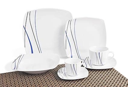 Topkapi TK de 989, de 42 Piezas Porcelana Vajilla Vajilla Rossi