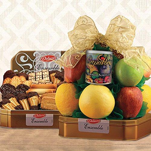 Delacre Belgian Chocolate Cookies N' Fruit Basket