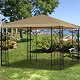 Garden Winds Tivoli Single Tiered Gazebo Replacement Canopy Top Cover – RipLock 350