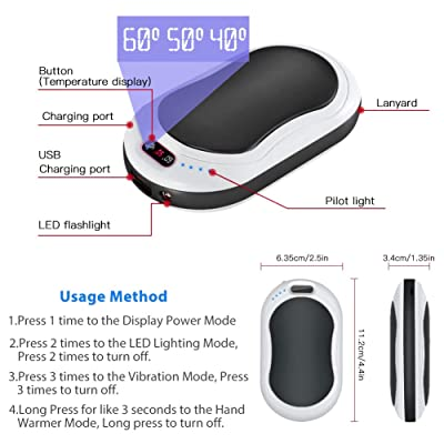 Maifeituo 10000mAh Rechargeable Hand Warmer Electric Portable Pocket Hand Warme