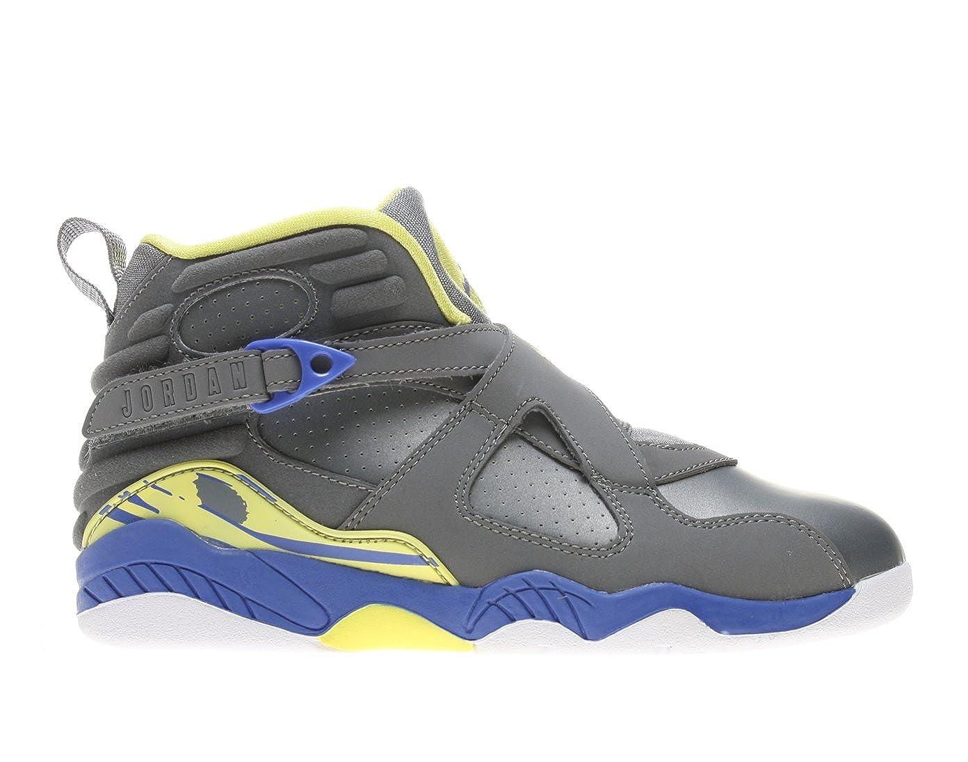 designer fashion 08556 e3863 Amazon.com   Jordan Girl s Air 8 Retro Laney - Cool Grey Violet  Force-Electric Yellow   Basketball