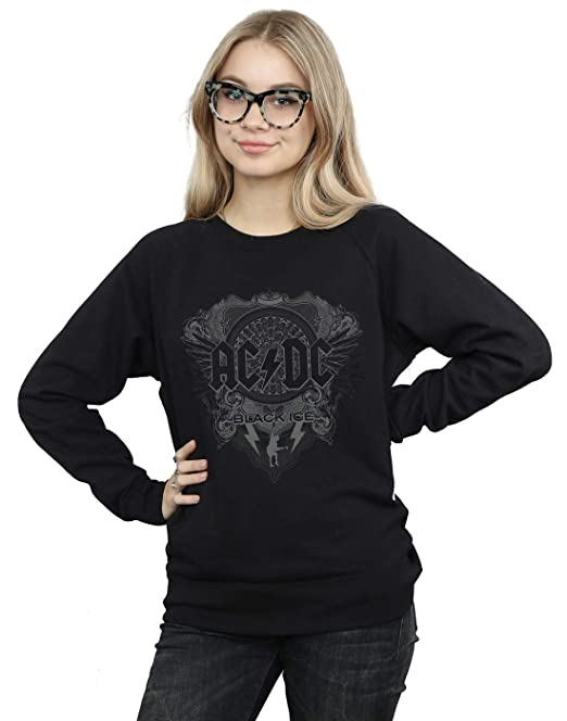 AC/DC Mujer Black Ice Camisa De Entrenamiento: Amazon.es: Ropa y accesorios