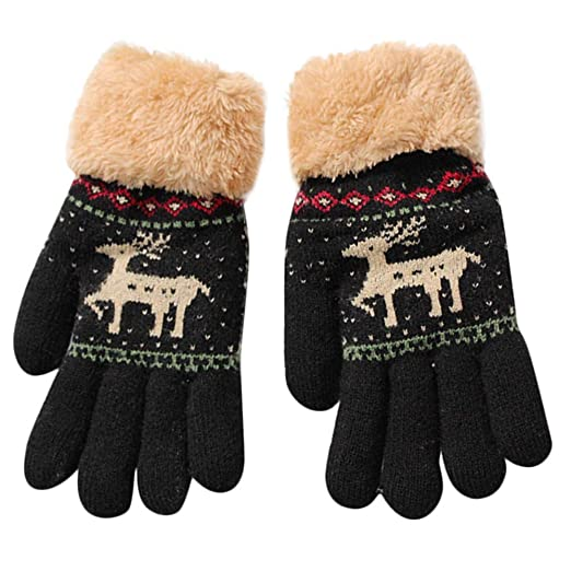 a5fa70713 Amazon.com  8-13 Years Kids Girls Boys Christmas Deer Knitted ...