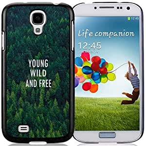 Beautiful Unique Designed Samsung Galaxy S4 I9500 i337 M919 i545 r970 l720 Phone Case With Young Wild And Free Forest Pattern_Black Phone Case