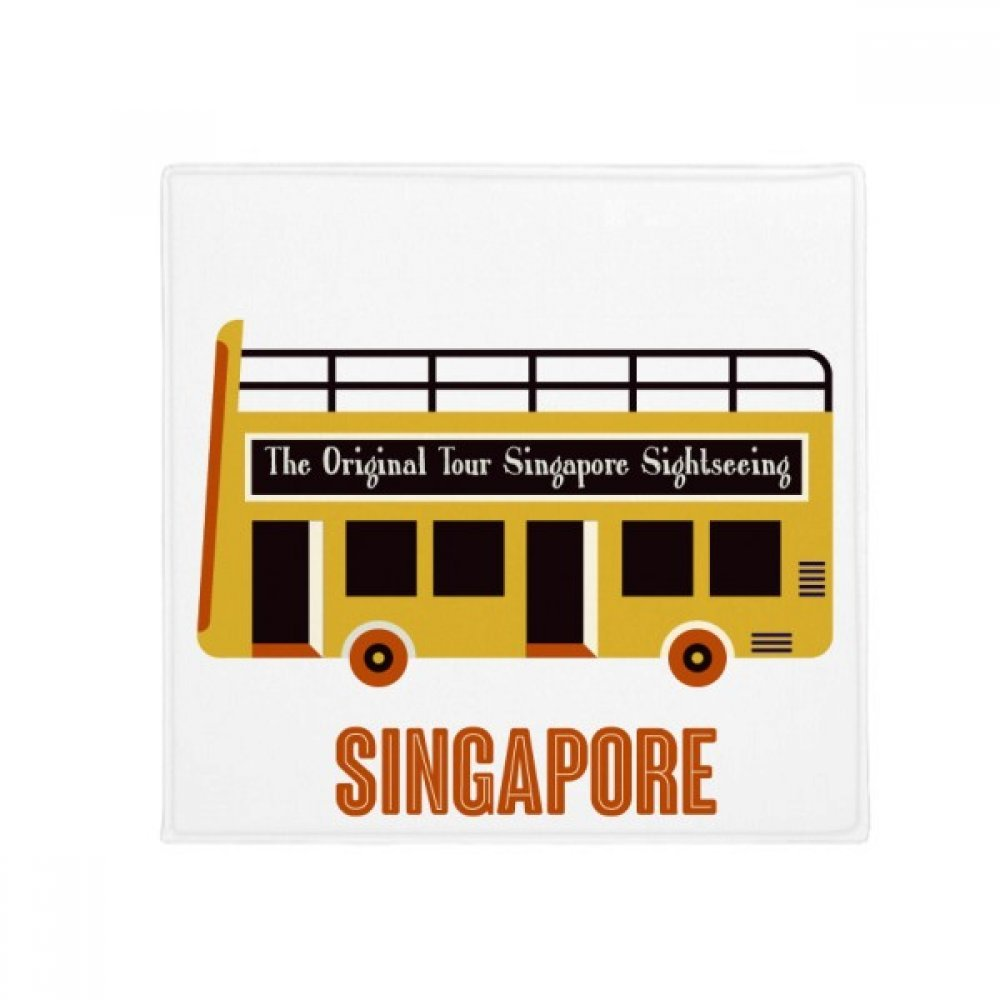 DIYthinker Singapore Sightseeing Shuttle Bus Anti-Slip Floor Pet Mat Square Home Kitchen Door 80Cm Gift