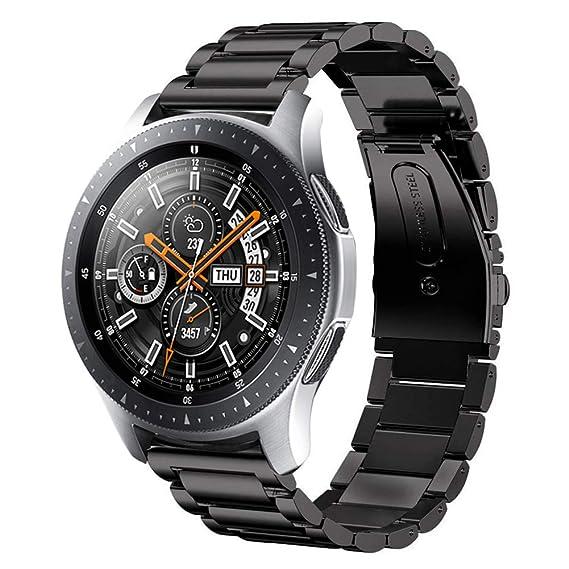 Sundaree Correa Samsung Galaxy Watch 46MM,22MM Metal Acero Inoxidable Reemplazo Correa Banda Pulseras Reloj