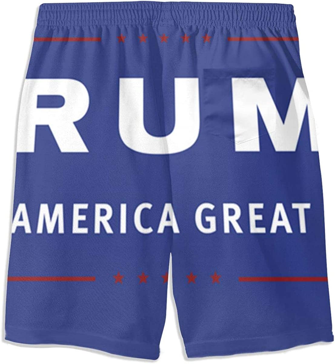 Hkany Make America Great Trump Teenager Boys Beachwear Beach Shorts Pants Board Shorts