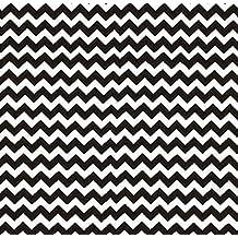 SheetWorld Crib / Toddler Sheet - Black Chevron Zigzag - 28 inches x 52 inches (71.1 cm x 132.1 cm) - Made In USA