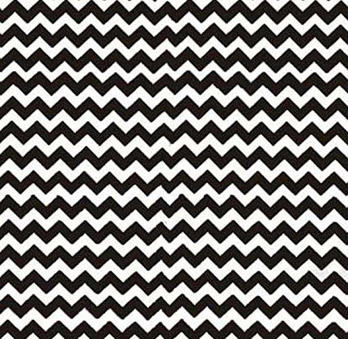 SheetWorld Crib / Toddler Sheet - Black Chevron Zigzag - ...