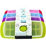 Joie Ice Cube Tray, Green/Purple/Red/Blue