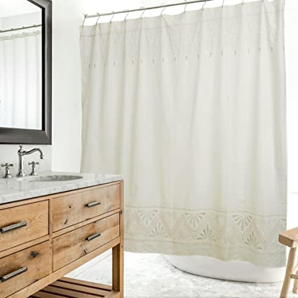 Merryfeel Embroidered Shower Curtain 180 X 190 Cm 70quotx74quot