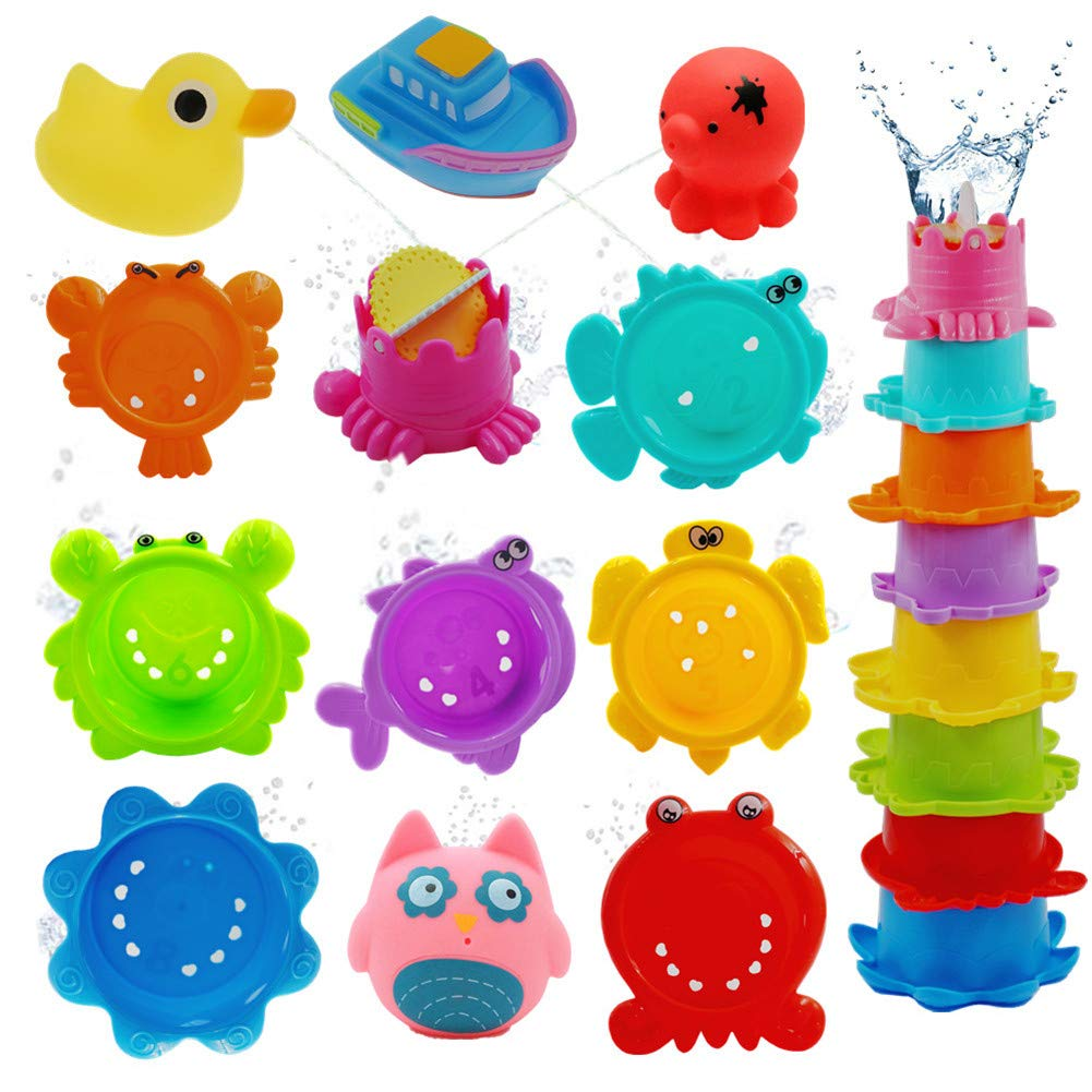 Goodluck001 Bath Toys For Toddlers 12pcs Bath Squirter