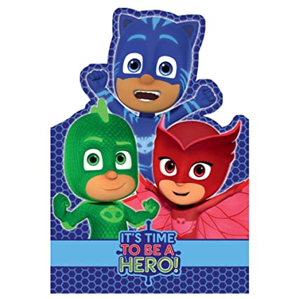 PJ máscaras tiempo para ser un héroe tarjeta de cumpleaños ...