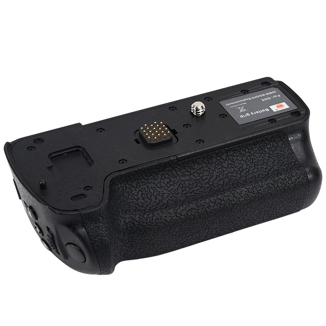 DSTE Pro DMW-BGGH5 DMW-BGGH5GK Vertical Composition Battery Grip for Panasonic GH5 GH5S Lumix GH5 Digital Camera as DMW-BLF19 BLF19E