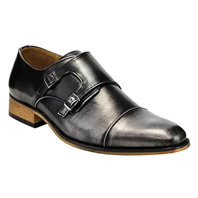 20182017 Loafers Slip Ons Beston EA28 Mens Double Monk Strap Slip On Dress Shoes On Sales